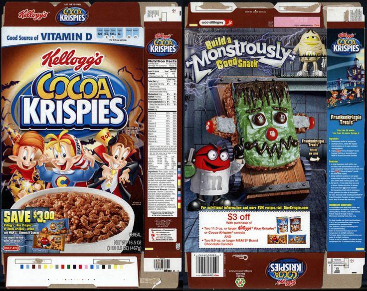 kelloggs cocoa krispies target exclusive frankenkrispie treats mms cereal box halloween 2011jpg 800635 pixels dolly miniatures pinterest miniatures - Mms Halloween