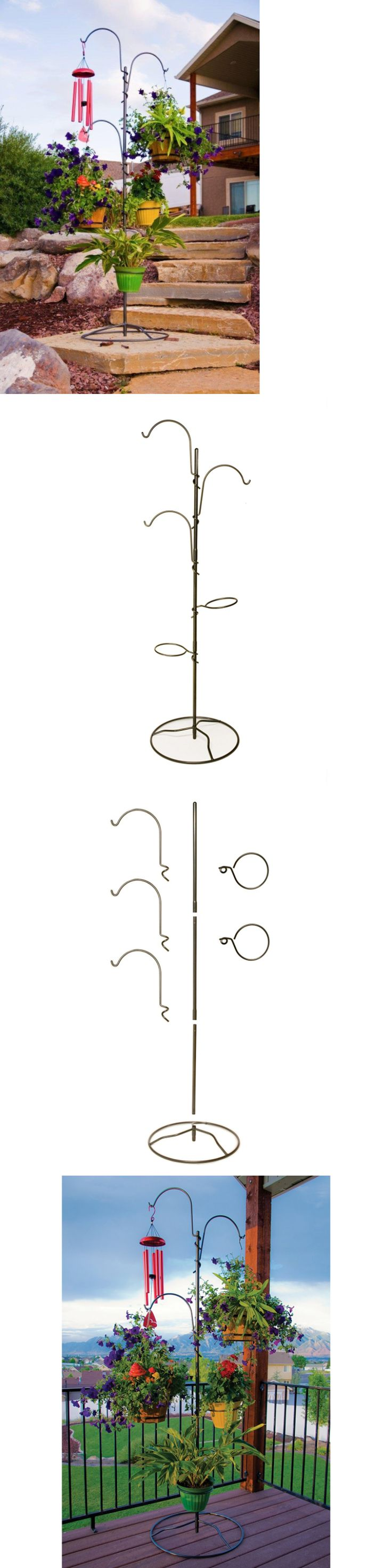 Plant Hooks and Hangers 134671: Plant Hanger Rack Indoor Stand Shepard Hooks Outdoor Unique Wind Chimes Patio -> BUY IT NOW ONLY: $50.98 on eBay!