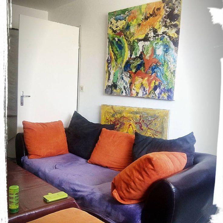 My living-room is a gallery ... #zahiapeintre #zahia #gallery #artofinstagram #picoftheday #pic #color #design #adorable #cute #original #tagstagramers #contemporaryart #art #artists #tagsforlikes