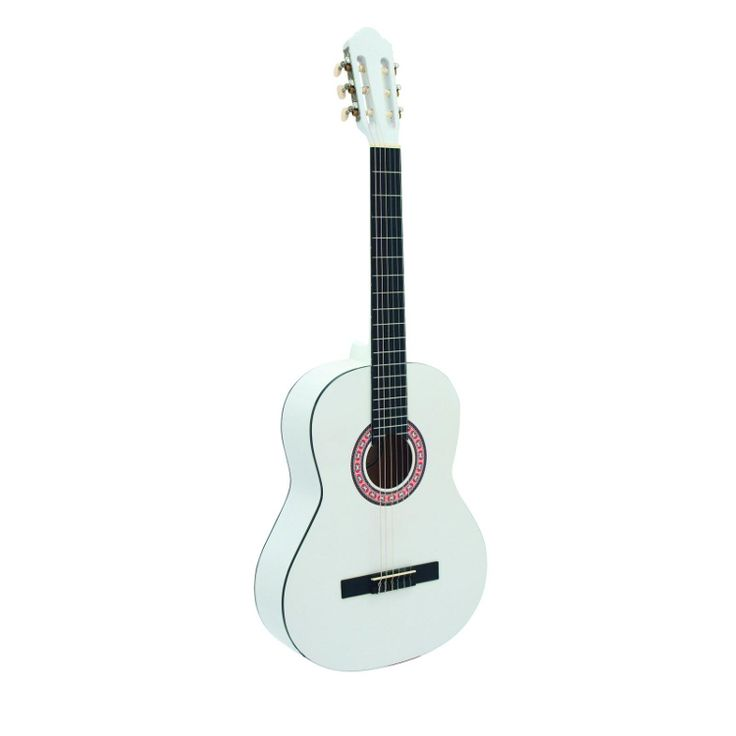 Dimavery AC-303 akoestische klassieke gitaar 4/4 wit