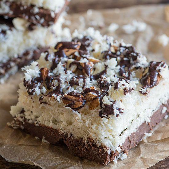 Raw Almond Joy Bars, Gluten Free, Vegan, Super Delicious!