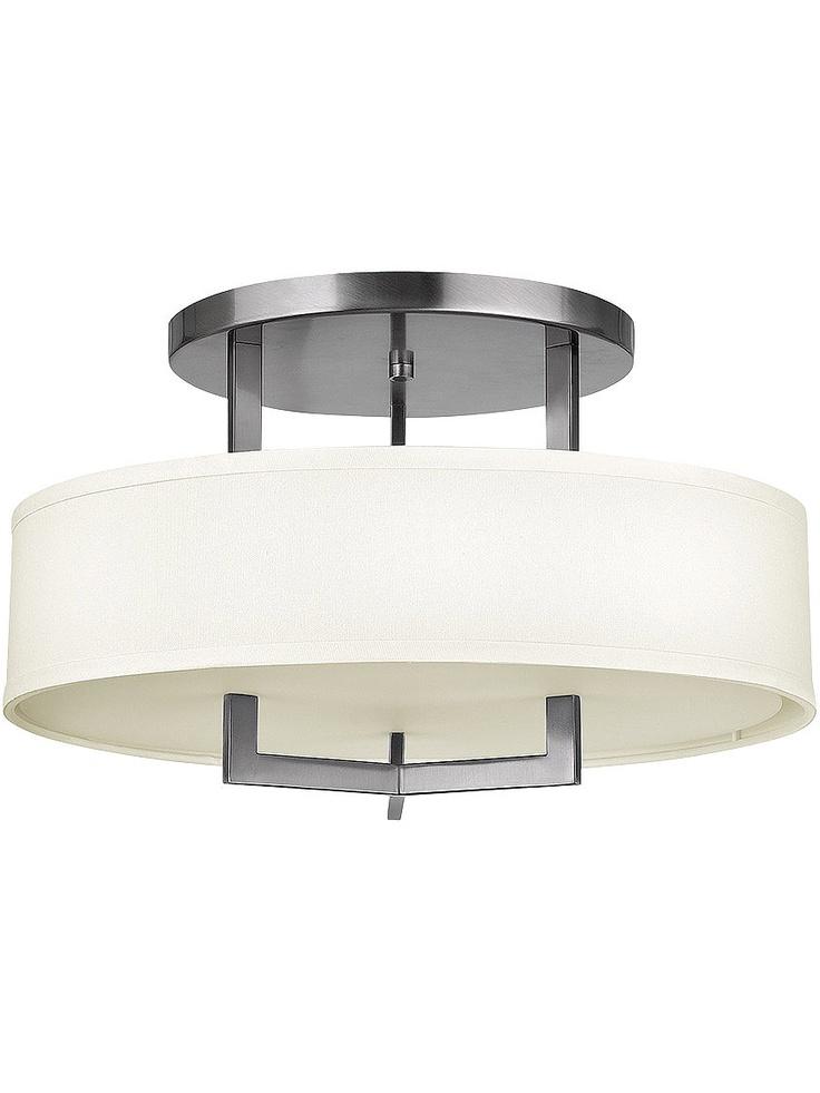 Flush Ceiling Fixtures Hampton Large Close Ceiling Light With Linen Drum Sha