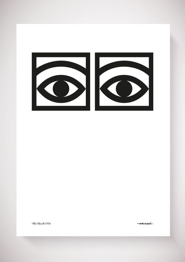 The iconic Ögon Cacao one eye poster was designed by the well-known Swedish illustrator Olle Eksell in 1956. The famous eyes of cacao was part of Sweden's first design program that Olle designed for the company Mazetti. Since then, the poster has become a real design classic.Olle Eksell was the creative designer ahead of his time. This could be seen in the famous eyes of cacao, which was part of Sweden's first design program that Olle designed for Mazetti back in 1956. Since then, the…
