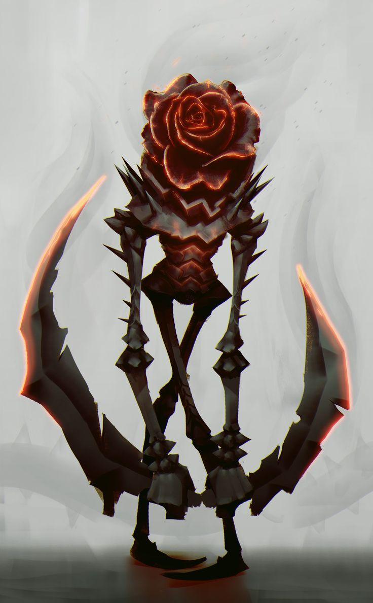 Rose demon, Alexis Rives on ArtStation at https://www.artstation.com/artwork/eQNgG