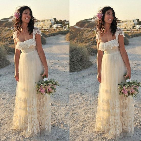 Find More Wedding Dresses Information about Vestido de casamento de Boho 2015 A Line Lace Boho Wedding Dress Dresses Beach Summer Bridal Gowns ,High Quality dress shoes steel toe,China dresses gowns uk Suppliers, Cheap dresses and evening gowns from Babyonline Alice Bridal  on Aliexpress.com