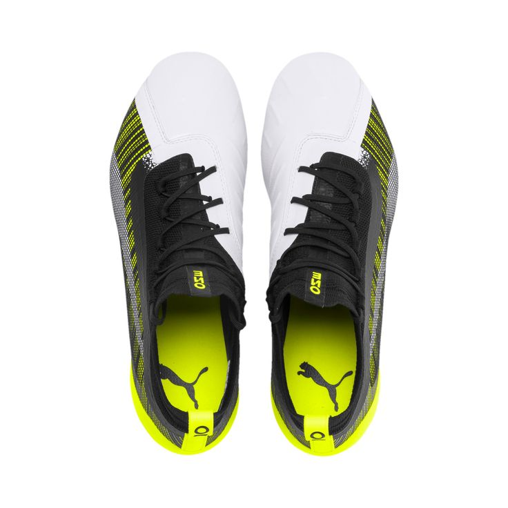 PUMA One 5.1 Mxsg Football Boots in White/Black/Yellow Alert size 10.5