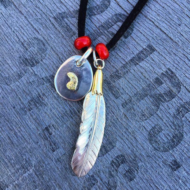 Larry Smith Re-Stock. (silver, gold, craftsmanship, made in japan, feather, eagle, pendant, necklace)