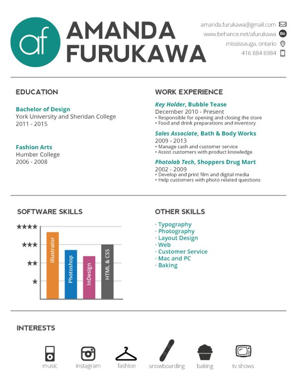 37 best Design Infographic Resumes images on Pinterest - info graphic resume