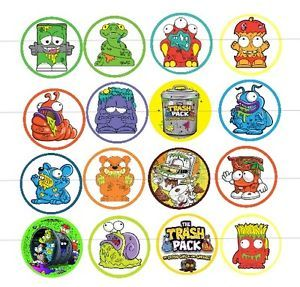 18 X Trash Pack Edible Image Wafer Paper Cupcake Toppers PRE CUT | eBay