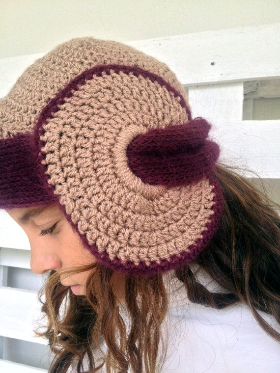Crochet hat knitted hat cloche hat 1920's style by PixiesFairies