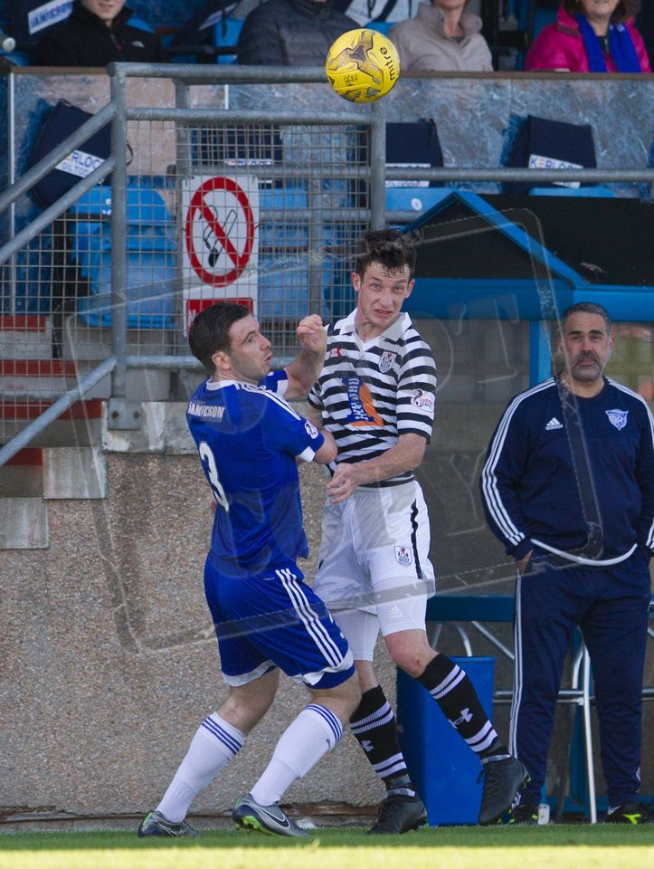 Queen's Park's David Galt in action during the Ladbrokes League One game between Peterhead and Queen's Park.