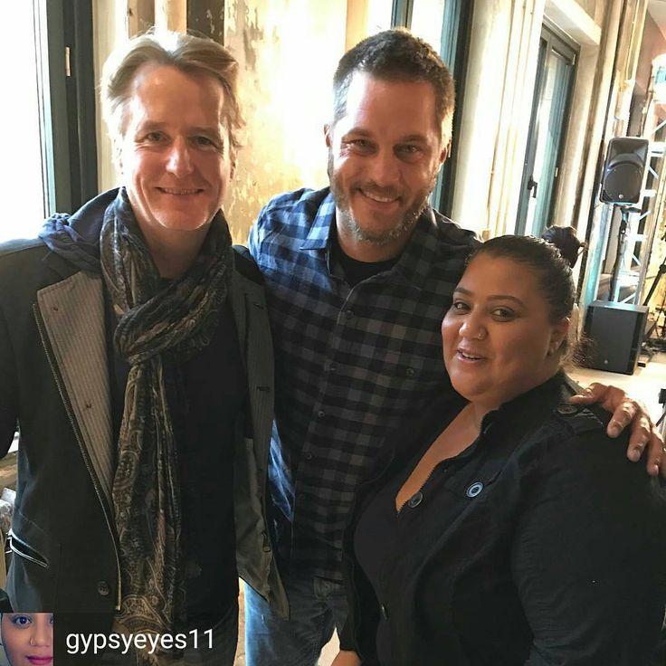 @Regrann from @gypsyeyes11 -  Met my favorite actors . Was so nervous  they were so nice #travisfimmel  #linusroache #vikings @historyvikings - #regrann