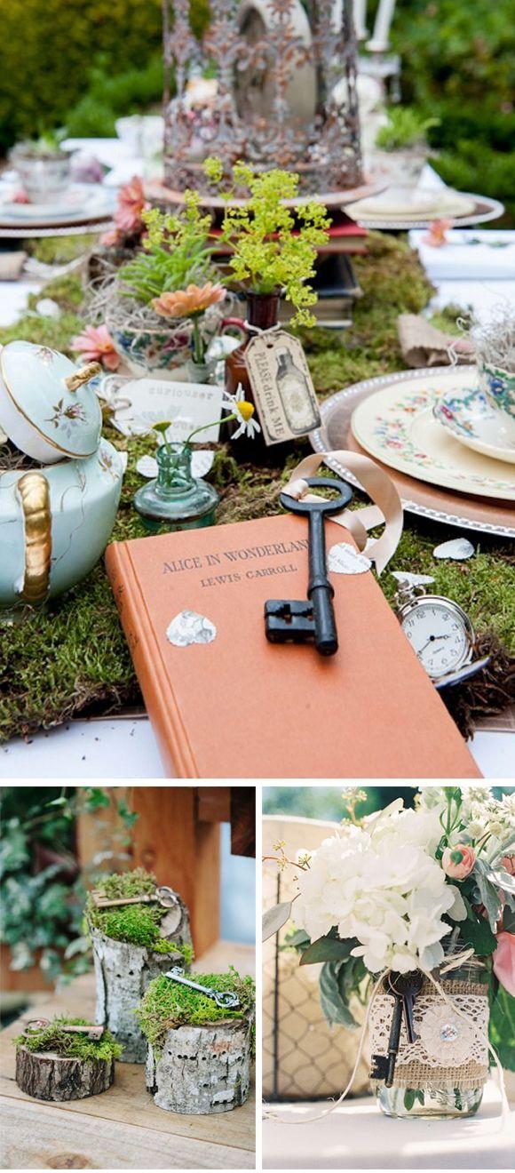 Decoracion de boda con llaves vintage #vintage #vintageweddings #weddingdecor