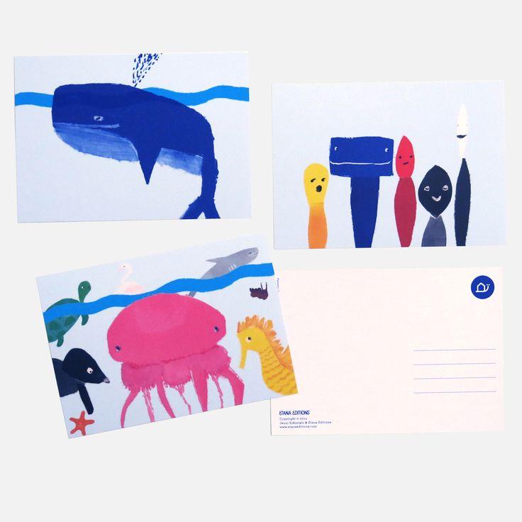 Etana Editions postcards by Jenni Erkintalo