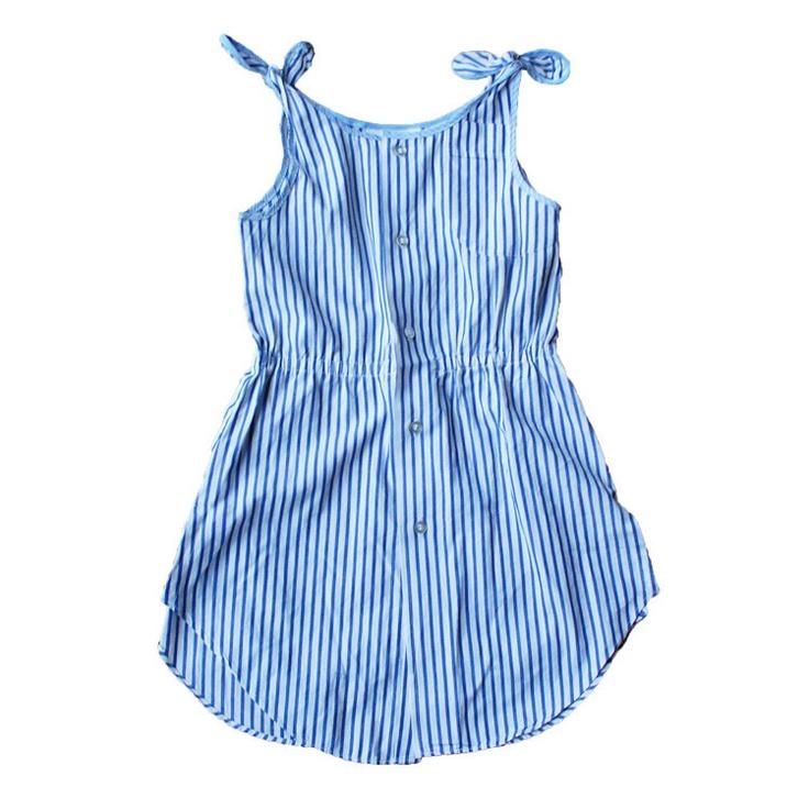 Tie Dress, Blue Stripe (4T)  Kalio