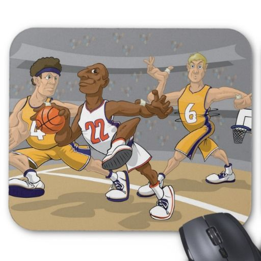 Basketball rush with Knicks and Lakers Mouse Pads
