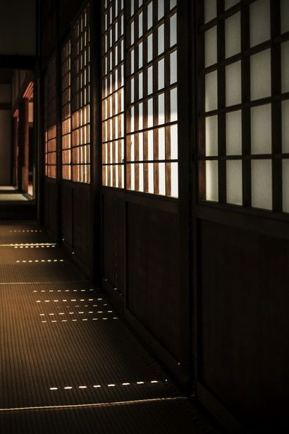 Shoji sliding panels at Wuishin-in temple, Kyoto, Japan.