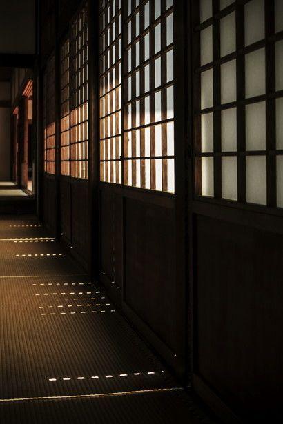 Shoji sliding panels at Wuishin-in temple, Kyoto, Japan.