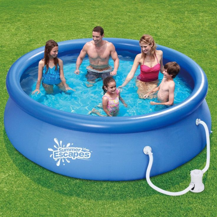 "Outdoor Backyard Swimming Pool w/Filter 10' x 30"" Quick Set Summer Escapes Kids  #SummerEscapes"