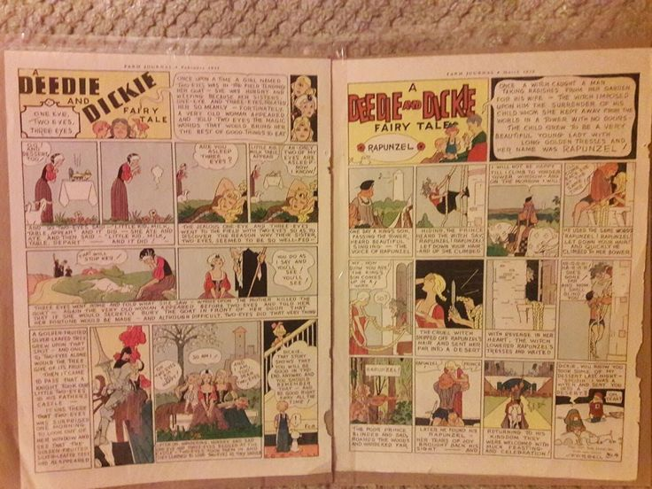 Vintage Cartoon Strip Pages - Feb - March 1937 Farm Journal - Artist Forbell