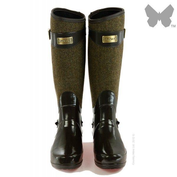 Hunter Ladies' Regent Apsley Wellington Boots - Chocolate   Country Attire