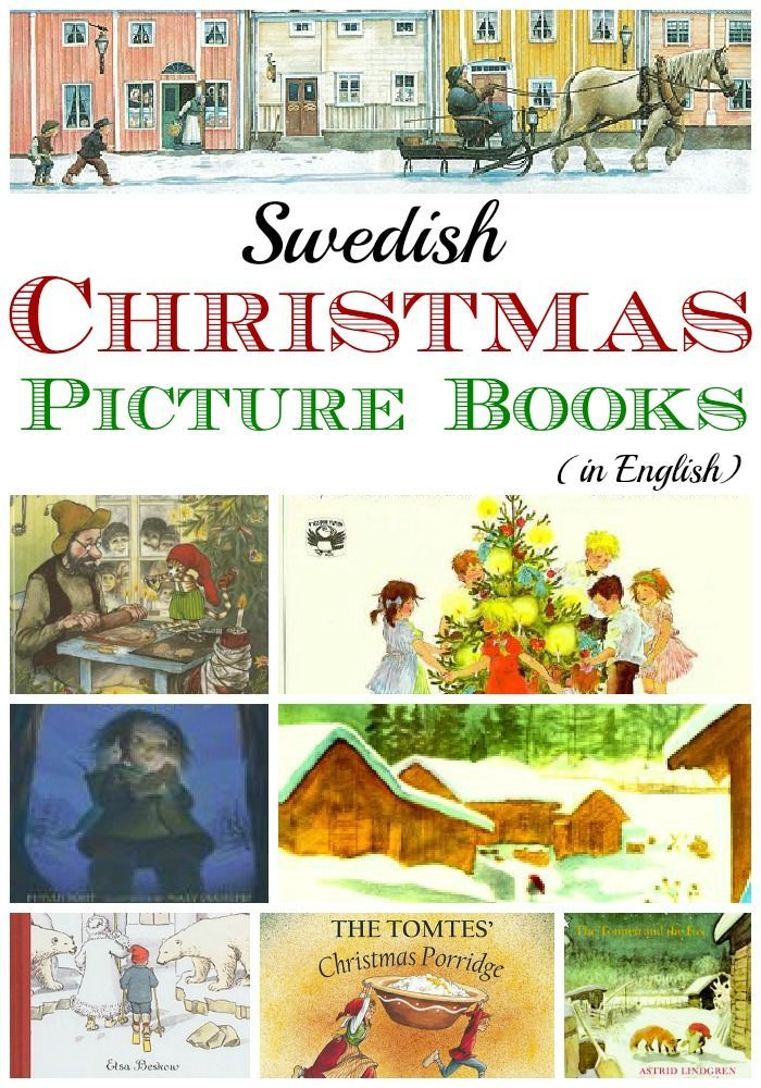 Have a very Swedish holiday! Christmas picture books and books about winter and Lucia for kids.
