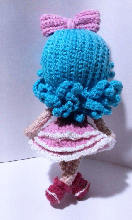 Tiny crochet doll amigurumi