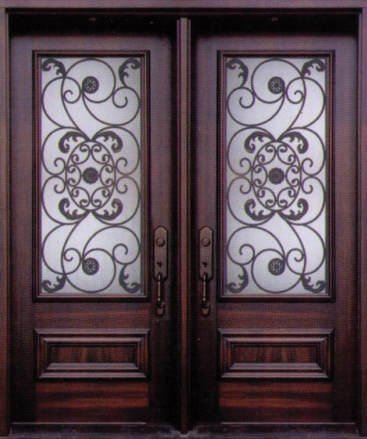Doors Design: An Exquisite And Stylish Decorative Wrought Iron Front