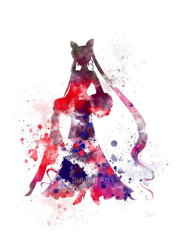 Black Lady KUNSTDRUCK Abbildung Sailor Moon Anime von SubjectArt