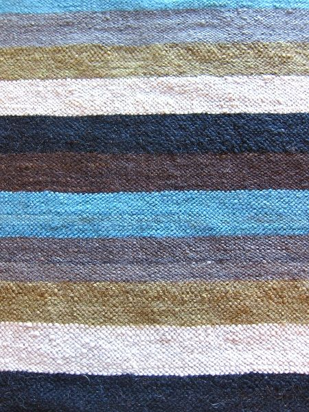 Flatpile carpet with teal