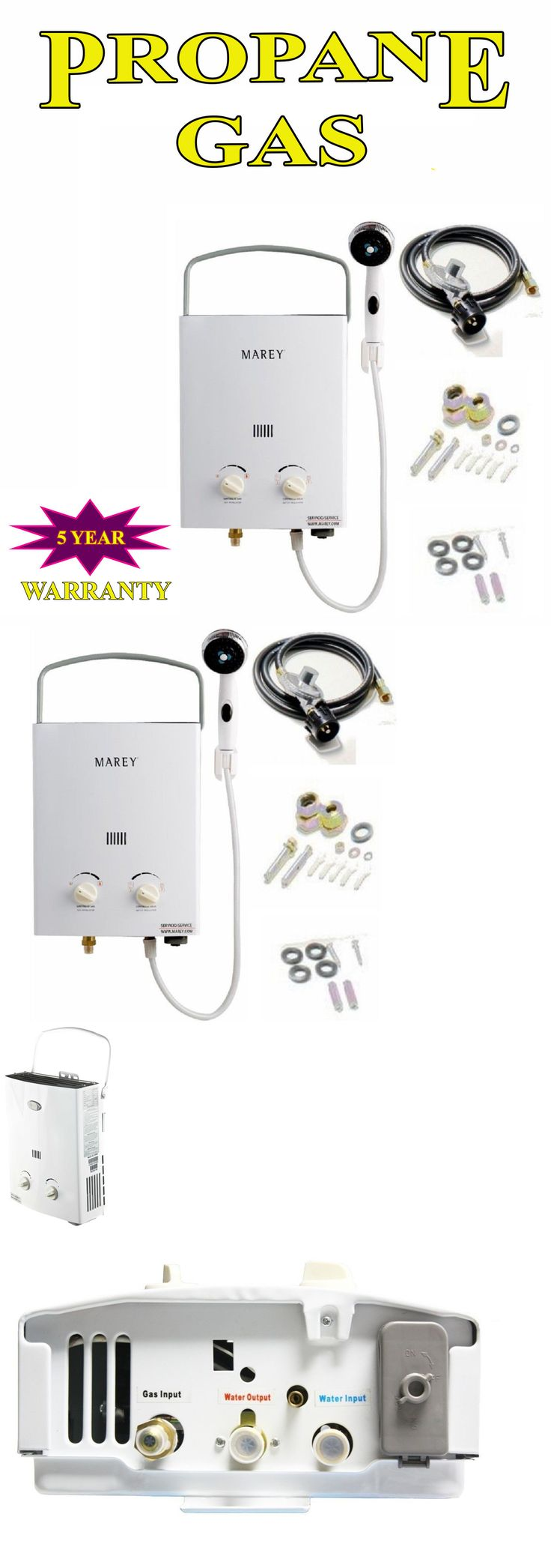 Other Camping Hygiene Accs 181400: Marey Mini Portable Camping Rv Tankless Water Heater Propane Gas 2 Gpm -> BUY IT NOW ONLY: $119.95 on eBay!
