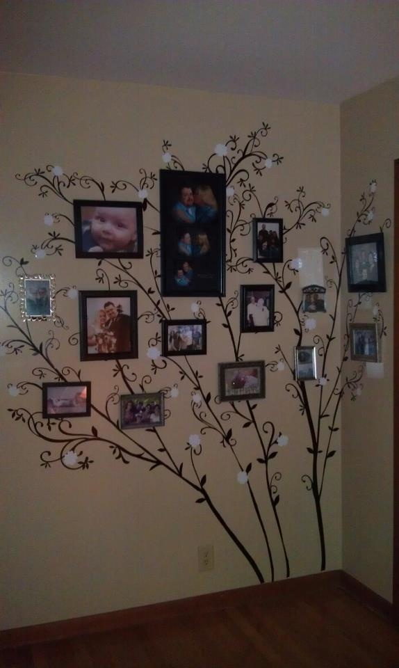 Originally pinned 3/3/12 by Denise Fralick Barber.  Vinyl tree wall decal - made with Cricut, Home Decor cartridge, and 12x24 mat.  Will be adding a half-pot to the wall to finish it off!  Thank you, Pinterest, for the idea...   Nicole if u see this... Better bring ur Cricut and get up here cuz I need some help...