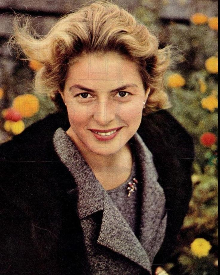 Ingrid Bergman, seen here in the early 1960s.  Aging gracefully, and still a  natural beauty. lmr
