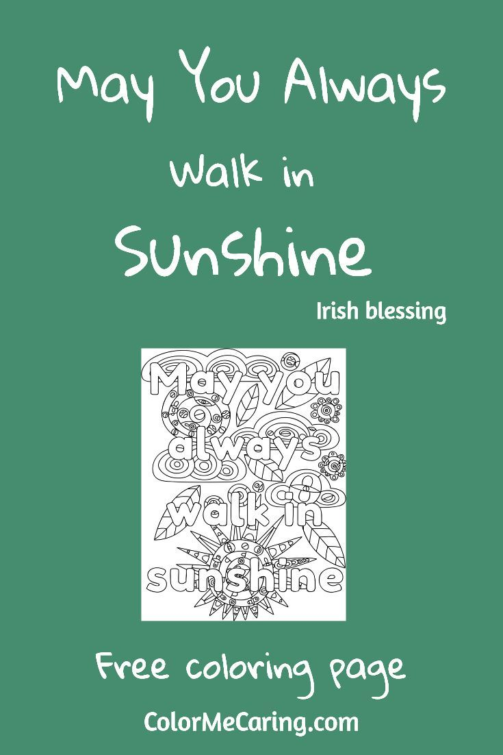 Free coloring pages may - March Free Coloring Pages St Patrick S Irish Blessings