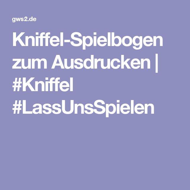 Kniffel-Spielbogen zum Ausdrucken | #Kniffel #LassUnsSpielen