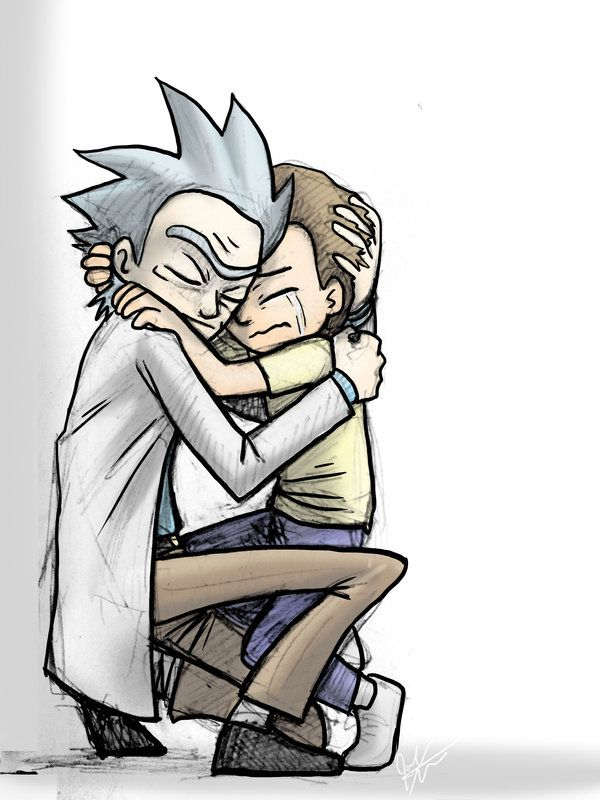 Beautifiq`~ Rick and Morty Hug by jameson9101322.deviantart.com on @DeviantArt