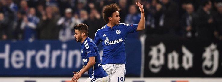 Eurolegue 2015/16: Schalke 04 - Sparta Prag 2:2 - Schalke-Stürmer Sané (r.): Torschütze zum 2:2