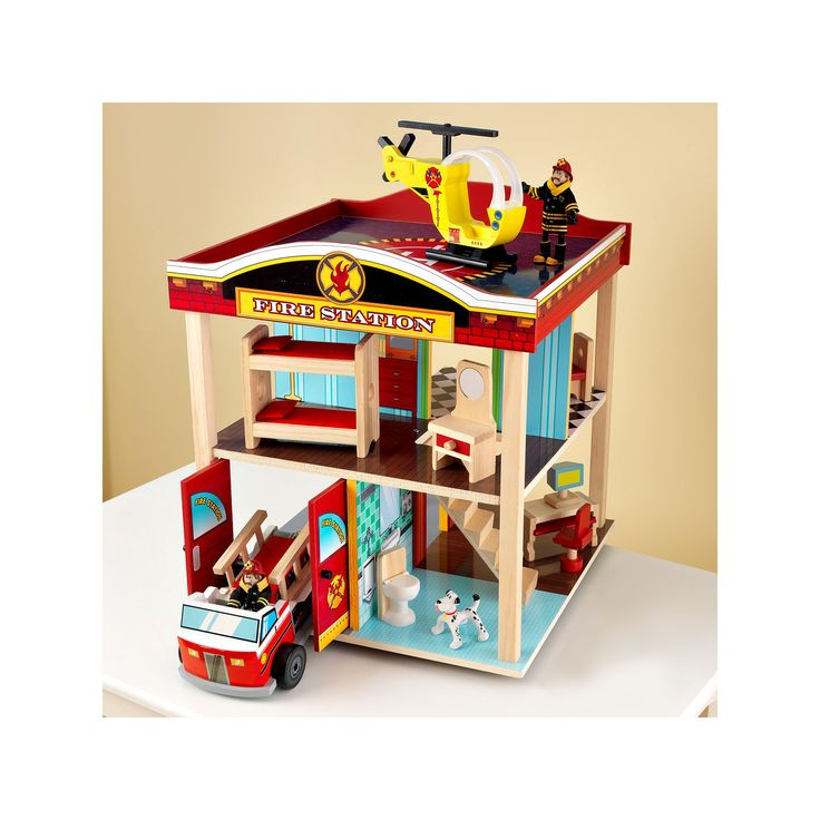 KidKraft Fire Station Set, Multicolor
