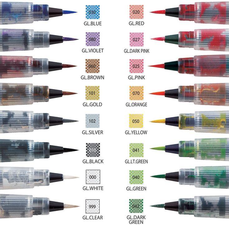 Štětcové popisovače | Wink of Stella Brush | Třpytivý popisovač Wink of Stella Brush | Kuretake - kvalitní popisovače na sklo, dřevo, textil, permanentní, umělecké, grafické, pro scrapbooking