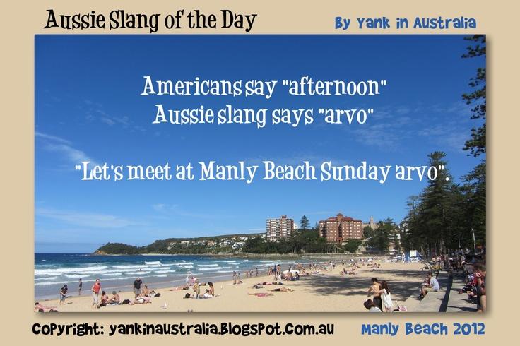 "#AUSSIESLANGOFTHEDAY:  Americans call it ""afternoon""  Aussie slang says ""arvo""  #aussielingo #australia #australian #travel @Yank in Australia ."