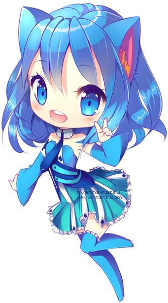 fille manga super chat bleu