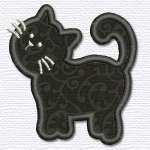 Adorable Applique cat applique