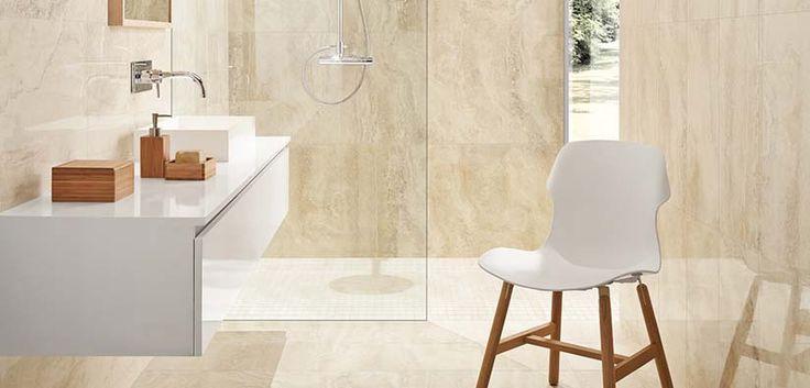 Rapolano Marfiim 8x24 wall tile + 12x12 floor tile #revigres