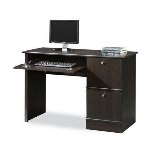 Contemporary Wood Office Desk Home Computer Laptop Writing Table Furniture New  | eBay