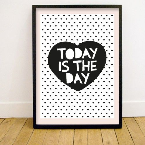 "#poster ""today is the day"" | Via bonbonbleu"