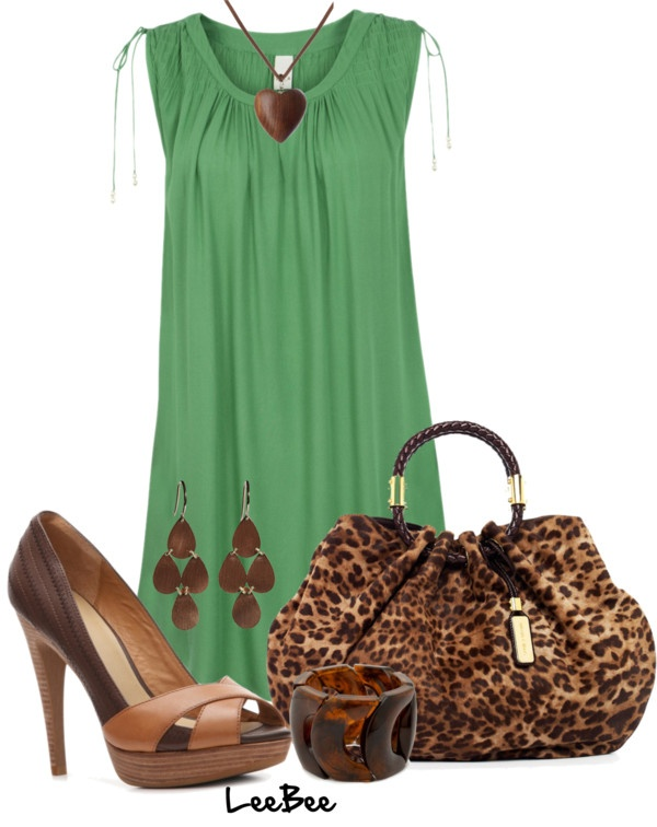 """Green and Brown"" by leebee11 on Polyvore: Summer Outfits, Fall Outfits, Style Outfits, Kirakat Outfits"