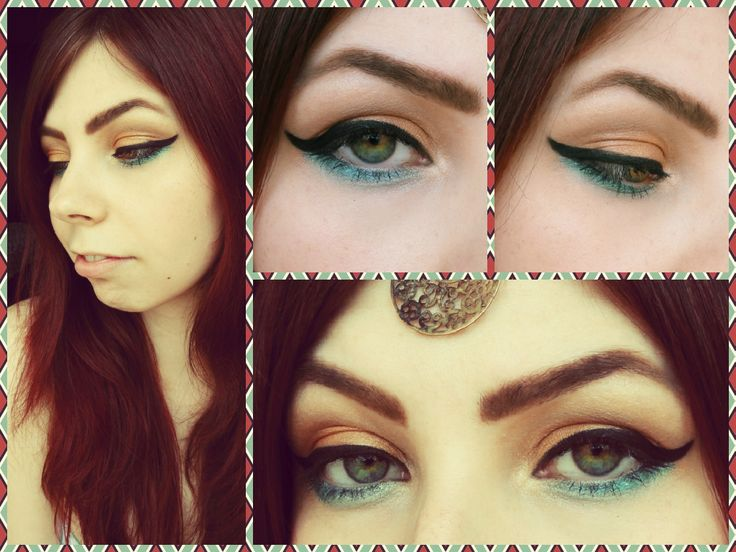 bronze and green-super summer make up in arabic style :) or it's amodern Cleopatra? :)  #makeup #style #arabic #beauty