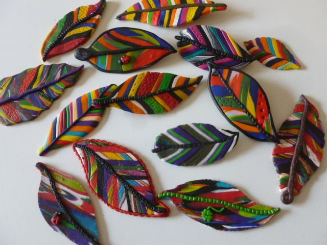 Polymer clay brooches
