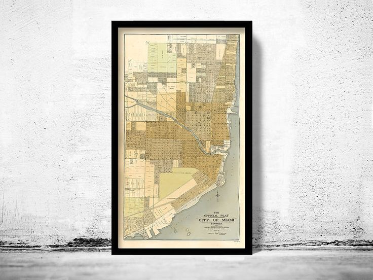 Vintage Map of Miami Florida 1918 - product image