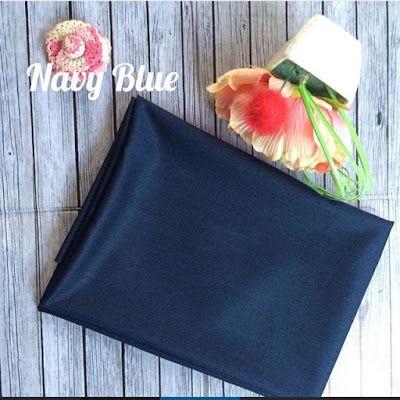 NAVY BLUE bahan: katun ima teksture: berserat halus, sangat adem di pakai, mudah di atur tidak licin meskipun tanpa inner. ukuran: 180x75 pinggir: jahit dan rawis